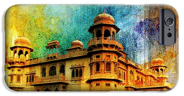 Pakistan iPhone Cases - Mohatta Palace iPhone Case by Catf
