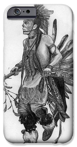 Mohawk Dancer iPhone Case by Lew Davis