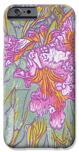 Floral Reliefs iPhone Cases - Mojave Willow iPhone Case by Maria Arango