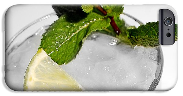 Detail iPhone Cases - Mojito Detail iPhone Case by Gina Dsgn
