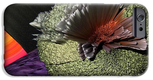 Abstract Digital Photographs iPhone Cases - Molecular Explosion iPhone Case by Camille Lopez