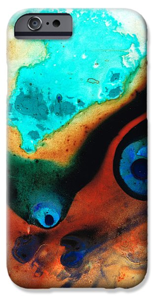 Colorful Abstract iPhone Cases - Molten Earth iPhone Case by Sharon Cummings