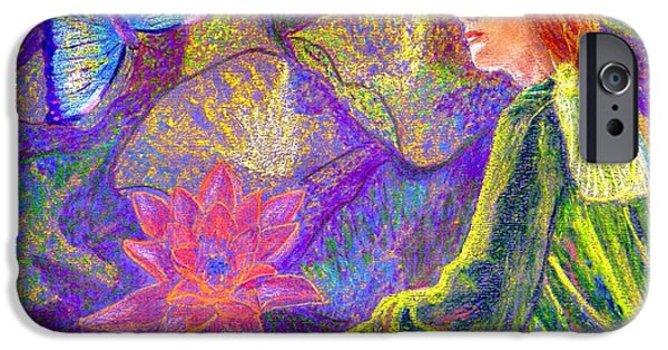 Contemplation iPhone Cases - Moment of Oneness iPhone Case by Jane Small