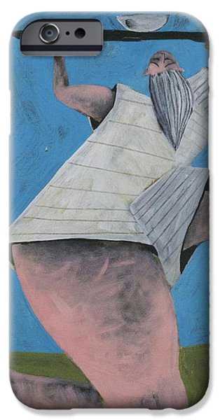 Outsider Mixed Media iPhone Cases - MOMENTIS  The Offering iPhone Case by Mark M  Mellon