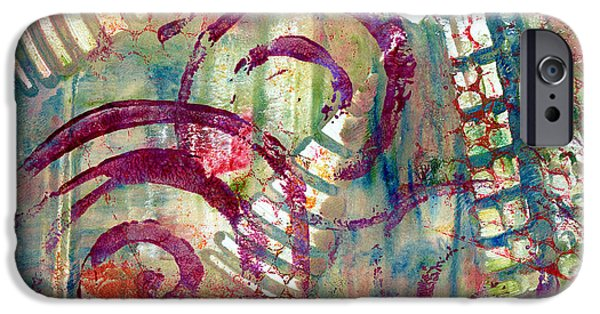 Abstract Movement Mixed Media iPhone Cases - Moments iPhone Case by Moon Stumpp