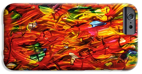 Red Abstract Sculptures iPhone Cases - Mommy It Melted iPhone Case by Rick Roth