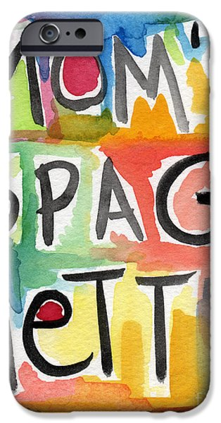 Mom's Spaghetti iPhone Case by Linda Woods