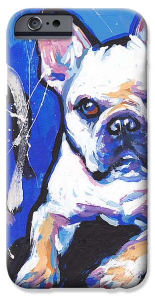 French Bulldog iPhone Cases - Mon Cherie Amour iPhone Case by Lea