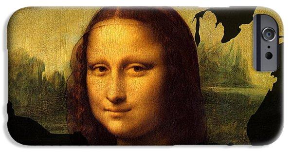 Madonna Digital Art iPhone Cases - Mona Lisa United States iPhone Case by John Clark
