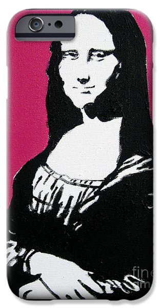 Painter Photo Mixed Media iPhone Cases - Mona Lisa iPhone Case by Venus