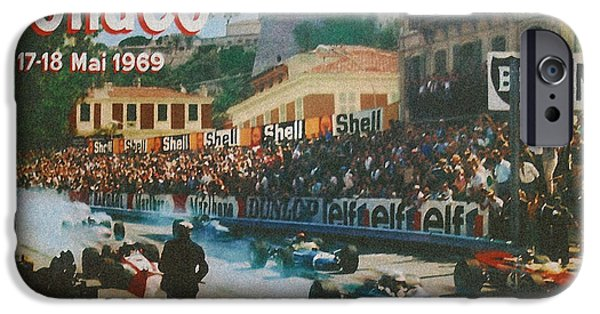 Formula One iPhone Cases - Monaco 1969 iPhone Case by Nomad Art And  Design