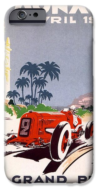 Monaco Grand Prix 1934 iPhone Case by Nomad Art And  Design