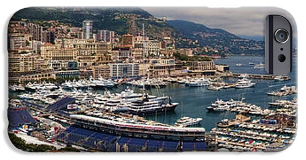 Sea iPhone Cases - Monaco Panorama iPhone Case by David Smith