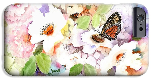Butterfly iPhone Cases - Monarch at my Garden iPhone Case by Neela Pushparaj