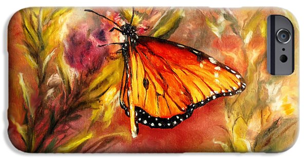 Chatham iPhone Cases - Monarch Beauty iPhone Case by Karen Kennedy Chatham