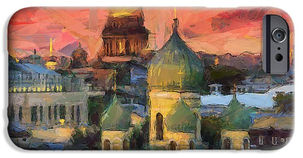 Fantastic Gifts iPhone Cases - Monastery at sunset iPhone Case by Yury Malkov