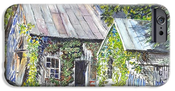 Shed Drawings iPhone Cases - Monday Monday Not Just Any Day iPhone Case by Carol Wisniewski