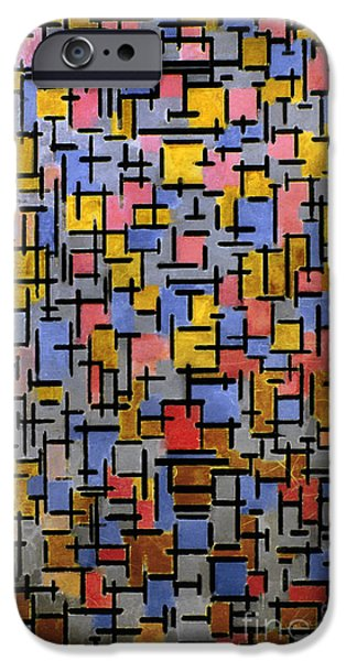 Mondrian iPhone Cases - Mondrian Composition 1916 iPhone Case by Granger