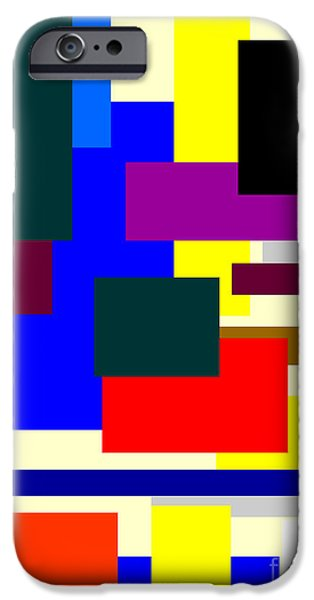 Modernism Mixed Media iPhone Cases - Mondrian Composition iPhone Case by Celestial Images