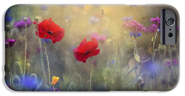 Floral Photographs iPhone Cases - Monets Garden I iPhone Case by Magda  Bognar
