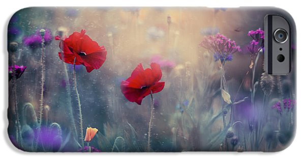 Floral Photographs iPhone Cases - Monets Garden II iPhone Case by Magda  Bognar