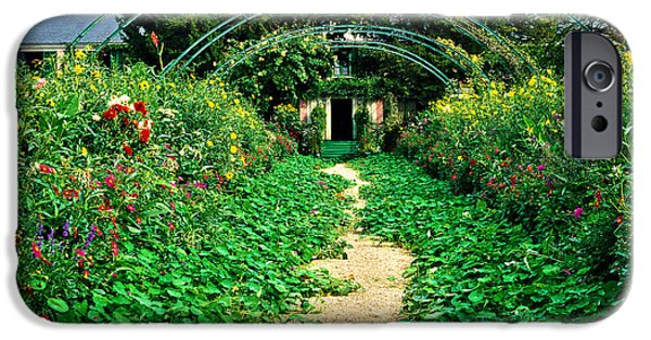 Painter Photo Photographs iPhone Cases - Monets Gardens at Giverny iPhone Case by Jeff Black