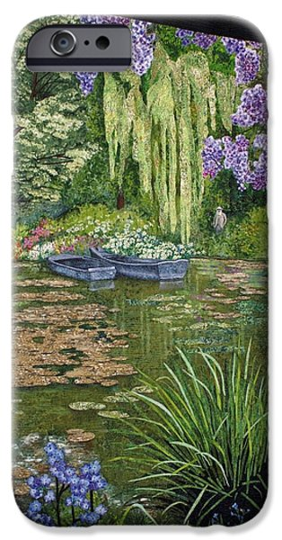 Garden Tapestries - Textiles iPhone Cases - Monets Lily Pond iPhone Case by Lenore Crawford