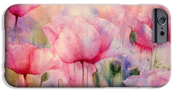 Romanovna iPhone Cases - Monets Poppies Vintage Warmth iPhone Case by Georgiana Romanovna