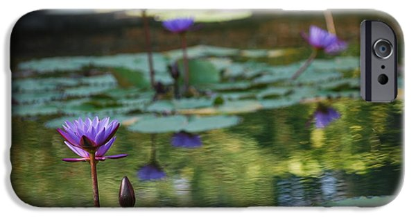 Nymphaea iPhone Cases - Monets Waterlily Pond Number Two iPhone Case by Heather Kirk