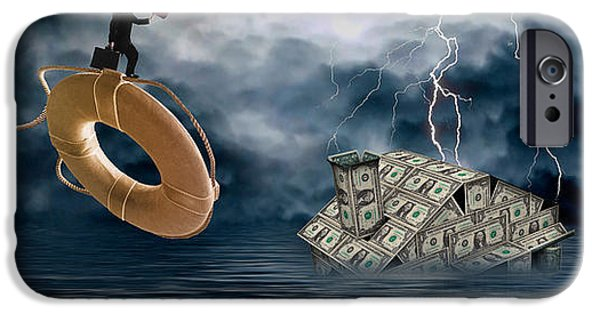 Photography Lightning iPhone Cases - Money House Under Water iPhone Case by Panoramic Images