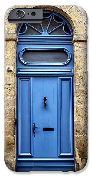 South West France iPhone Cases - Monflanquin Door iPhone Case by Nomad Art And  Design
