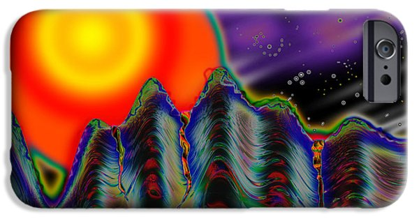 Fractal Other Worlds iPhone Cases - Moniker iPhone Case by Melinda Fawver