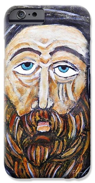 Contemplative Mixed Media iPhone Cases - Monk 4 iPhone Case by Sarah Loft