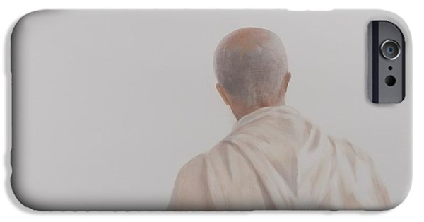 Contemplative Photographs iPhone Cases - Monk, Santantimo I, 2012 Acrylic On Canvas iPhone Case by Lincoln Seligman