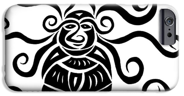 Design Glass Art iPhone Cases - Monkey Beetle iPhone Case by Beth Akerman