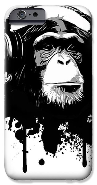 Monkey iPhone Cases - Monkey business iPhone Case by Nicklas Gustafsson