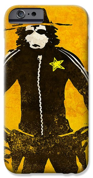 Sheriff iPhone Cases - Monkey Sheriff iPhone Case by Pixel Chimp
