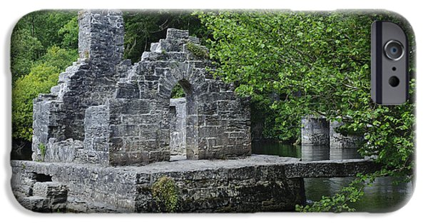Historic Site iPhone Cases - Monks Fishing Hut Ruins, Ireland iPhone Case by John Shaw