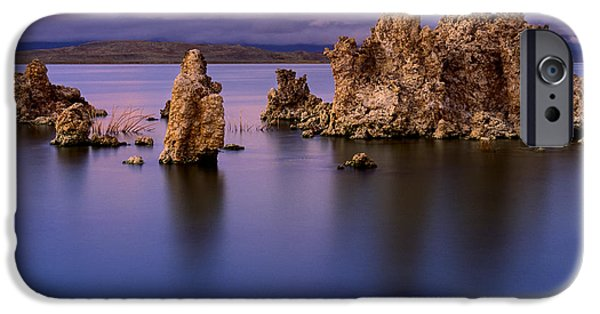 Park Scene iPhone Cases - Mono Lake Afterglow iPhone Case by Inge Johnsson