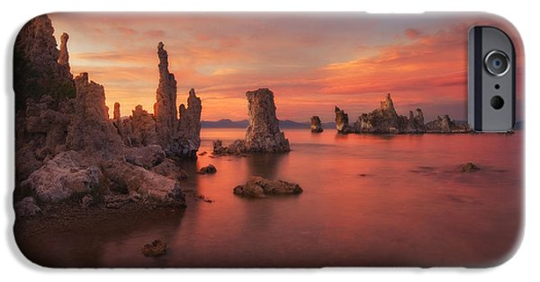 Peter Coskun iPhone Cases - Mono Lake Sunset iPhone Case by Peter Coskun