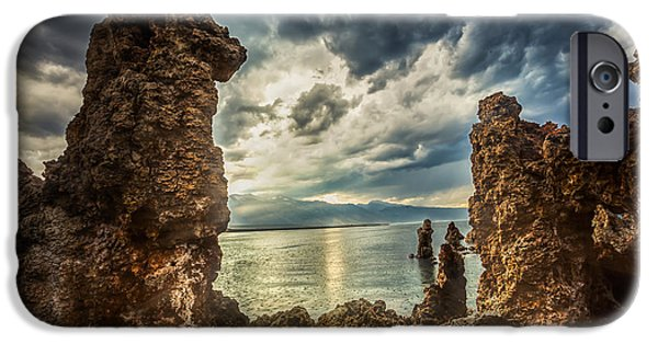 California Tourist Spots iPhone Cases - Mono Lake View iPhone Case by Jerome Obille