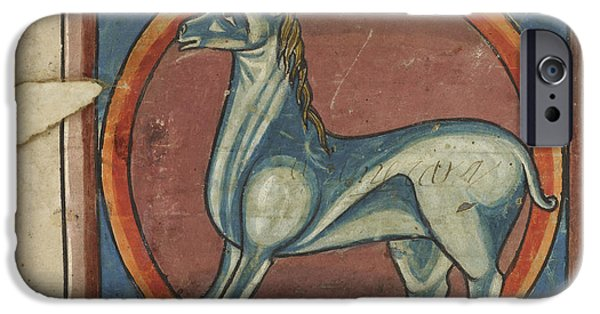 Unicorn Art iPhone Cases - Monoceros With A Large Horn iPhone Case by British Library