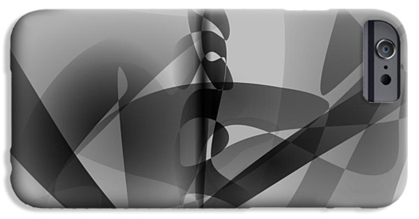 Colorful Abstract iPhone Cases - Monochrome Lilies Art iPhone Case by Masaaki Kimura