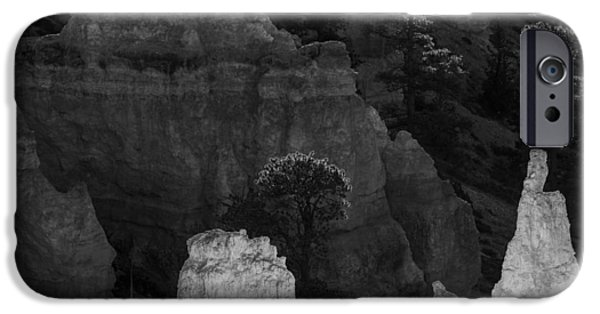 Red Rock iPhone Cases - Monochrome Morning iPhone Case by Joseph Smith