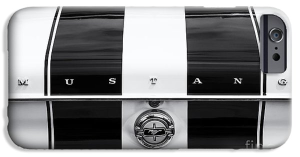 Mustang Horse iPhone Cases - Monochrome Mustang  iPhone Case by Tim Gainey