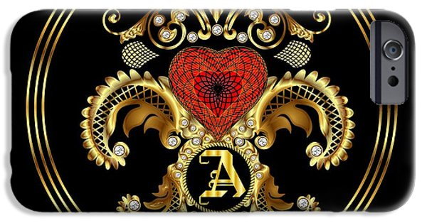 Waiter Mixed Media iPhone Cases - Monogram A BF Throw Pillow iPhone Case by Bill Campitelle