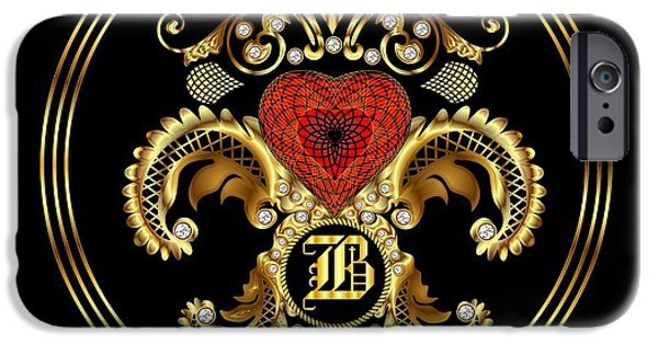 Waiter Mixed Media iPhone Cases - Monogram B BF Throw Pillow iPhone Case by Bill Campitelle