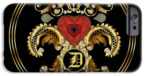 Waiter Mixed Media iPhone Cases - Monogram D BF Throw Pillow iPhone Case by Bill Campitelle