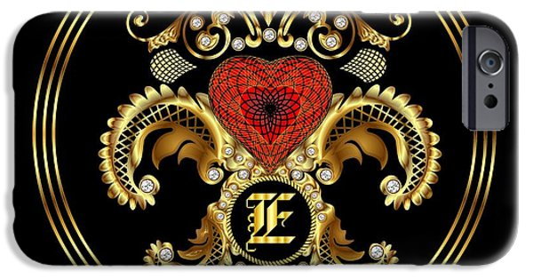Waiter Mixed Media iPhone Cases - Monogram E BF Throw Pillow iPhone Case by Bill Campitelle
