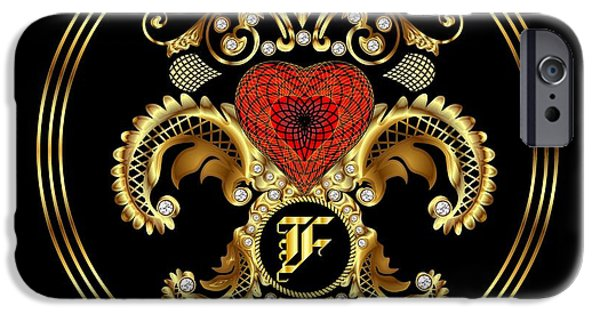 Waiter Mixed Media iPhone Cases - Monogram F BF Throw Pillow iPhone Case by Bill Campitelle